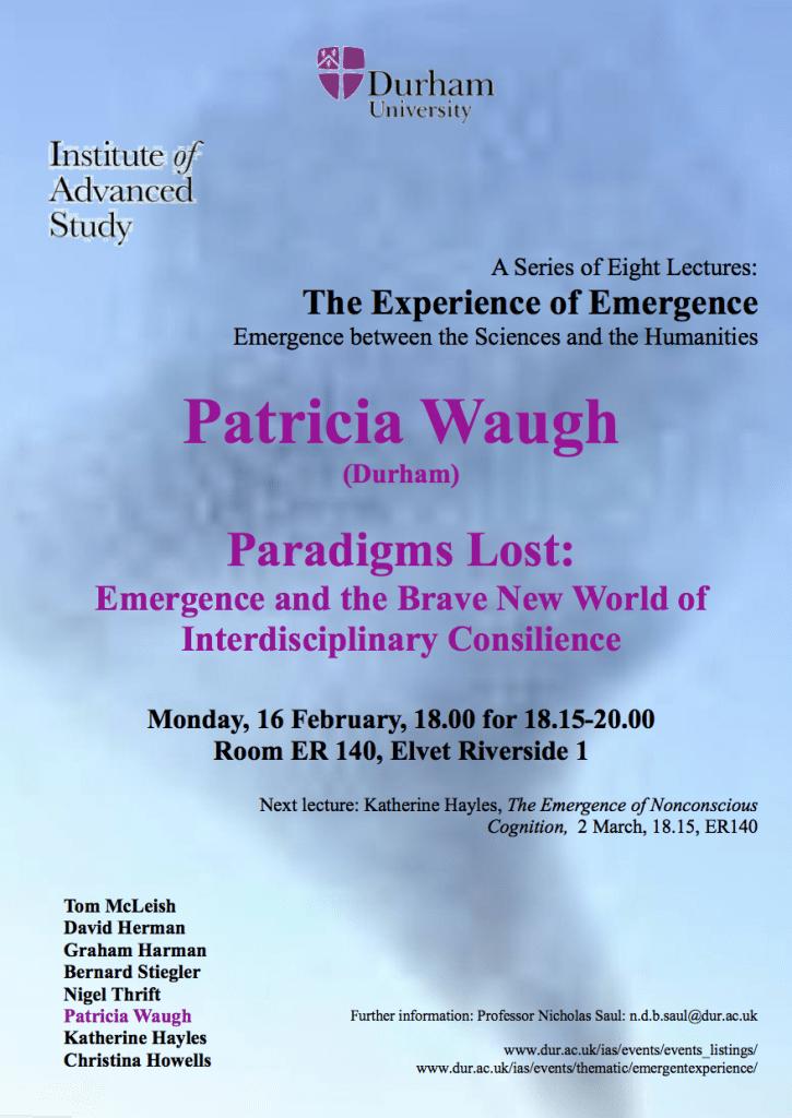 Patricia Waugh, Paradigms Lost, Flyer image