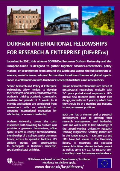 Durham University CoFUND flyer