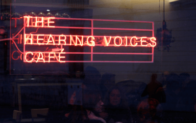 An invitation to the Hearing Voices Café, Wellcome Collection, London, 16-27 August 2016