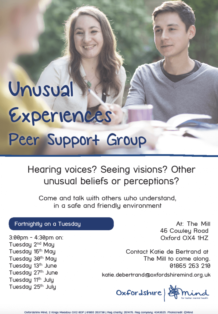 Oxford unusual experiences group flyer