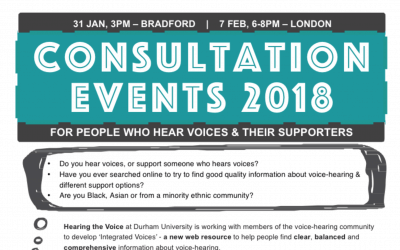 Integrated Voices Consultation Events, Bradford & London, 31 Jan & 7 February 2018